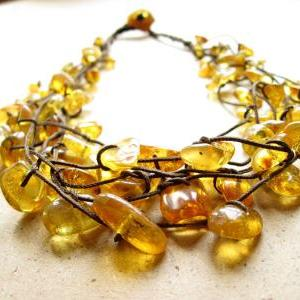 Amber Necklace / Baltic Amber Jewel..